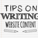 Tips on writing website content